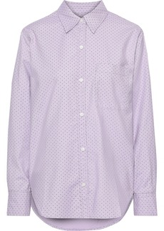 Current/elliott Woman The Neal Stretch Cotton-poplin Shirt Lilac