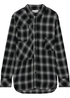 Current/elliott Woman The Patchwork Project Checked Flannel Shirt Black