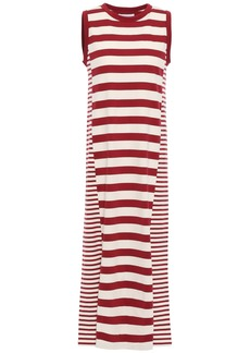 Current/elliott Woman The Perfect Muscle Tee Cotton-jersey Midi Dress Brick