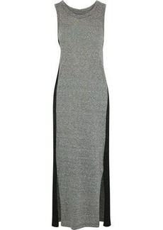 Current/elliott Woman The Perfect Muscle Two-tone Mélange Jersey Maxi Dress Gray