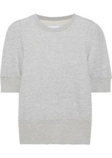 Current/elliott Woman The Pleat French Cotton-blend Terry Sweatshirt Light Gray