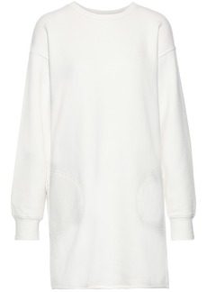 Current/elliott Woman The Pocket French Cotton-terry Mini Dress Off-white