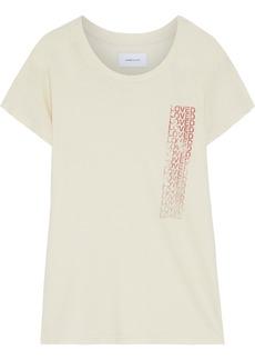 Current/elliott Woman The Relaxed Crew Printed Slub Cotton-jersey T-shirt Cream