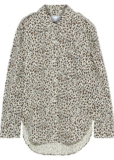 Current/elliott Woman The Sal Leopard-print Cotton-poplin Shirt Animal Print