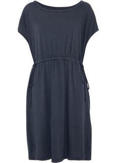 Current/elliott Woman The Sawyer Gathered Cotton-jersey Dress Storm Blue