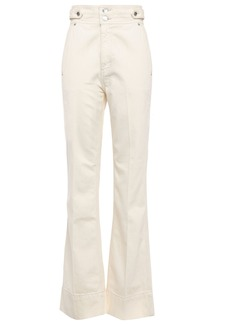 Current/elliott Woman The Significant Other High-rise Flared Jeans Ivory