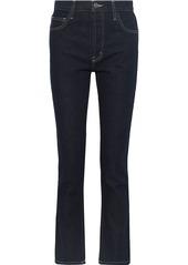 Current/elliott Woman The Stovepipe Mid-rise Straight-leg Jeans Dark Denim