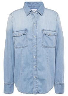 Current/elliott Woman The Surfwood Denim Shirt Light Denim