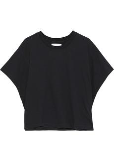 Current/elliott Woman The Tex Cotton-jersey T-shirt Black