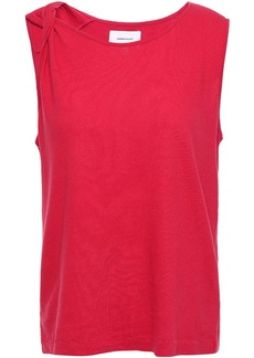 Current/elliott Woman The Tied Up Twisted Linen And Cotton-blend Jersey Tank Tomato Red