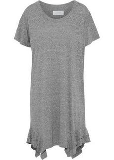 Current/elliott Woman The Tier Ruffle-trimmed Mélange Jersey Mini Dress Gray