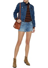 Current/elliott Woman The Trip Denim Jacket Mid Denim