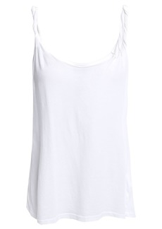 Current/elliott Woman The Twisted Cotton-jersey Tank White
