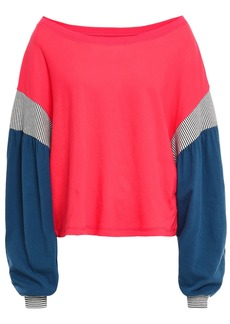 Current/elliott Woman The Two Step Color-block Cotton-jersey Top Red