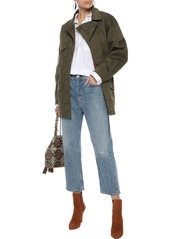Current/elliott Woman The Updated Infantry Stretch-cotton Canvas Jacket Army Green