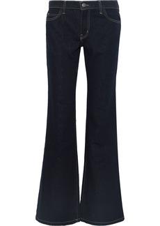 Current/elliott Woman The Wray Mid-rise Flared Jeans Dark Denim