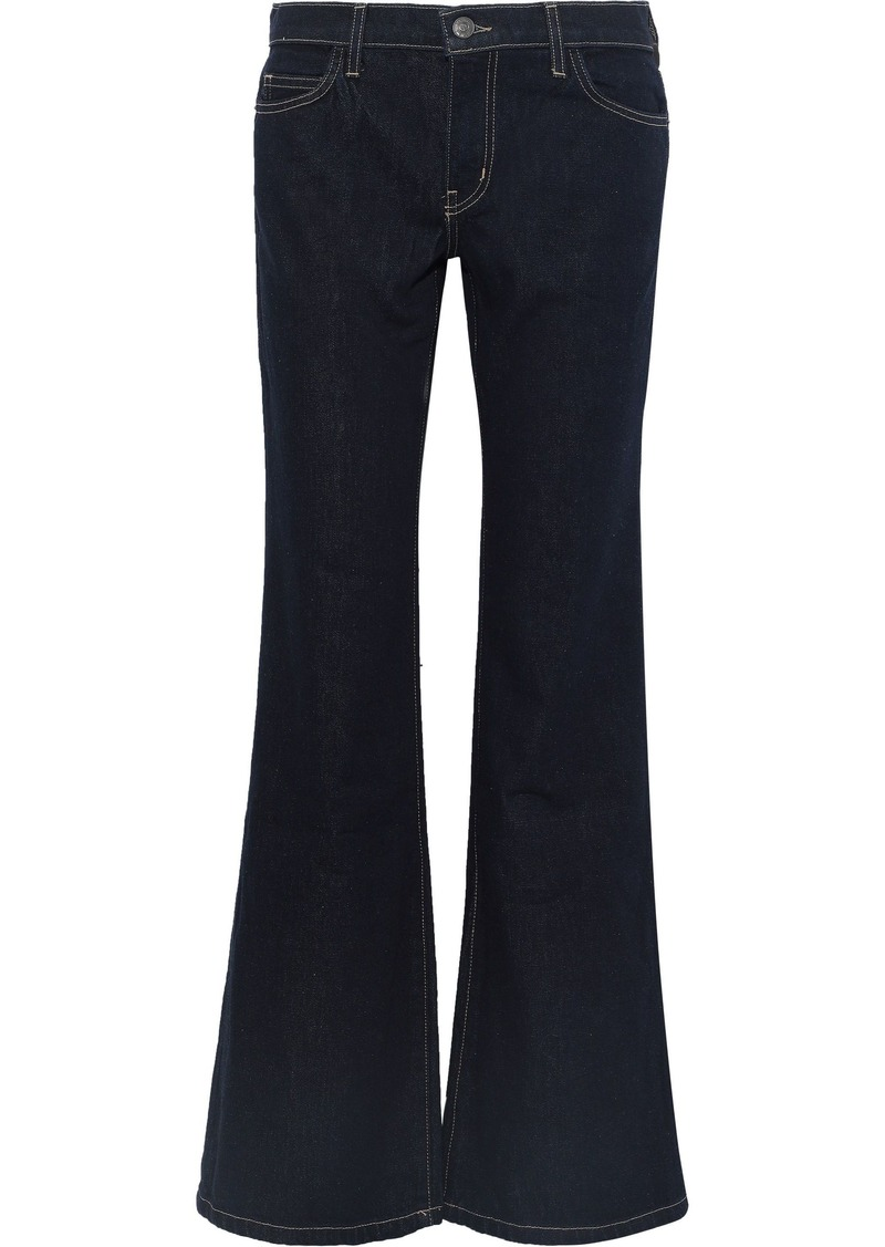 Current/elliott Woman The Wray Mid-rise Flared Jeans Dark Denim