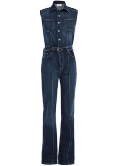 Current/elliott Woman The Zenith Belted Denim Jumpsuit Dark Denim