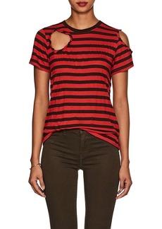 Current/Elliott Women's Brittan Cutout Striped T-Shirt