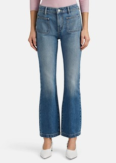 Current/Elliott Women's Crop Boot-Cut Jeans