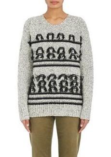 Current/Elliott Women's Fringed Stockinette-Stitched Sweater