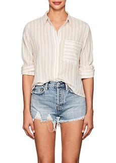 Current/Elliott Women's Georgia Striped Cotton Shirt
