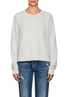 Current/Elliott Women's Open-Back Cotton-Blend Sweatshirt