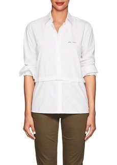 "Current/Elliott Women's ""Plus D'Amour"" Cotton Poplin Shirt"