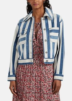 Current/Elliott Women's Sammy Striped Denim Jacket