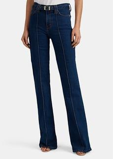 Current/Elliott Women's Scorpio Belted High-Rise Flared Jeans