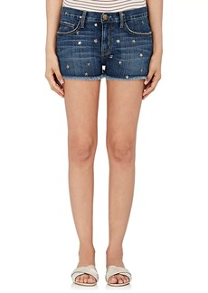 Current/Elliott Women's Star-Print Boyfriend Shorts