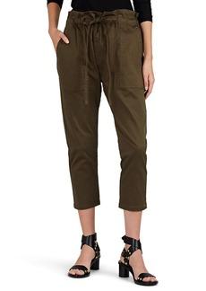 Current/Elliott Women's Tabloid Cotton Twill Crop Trousers