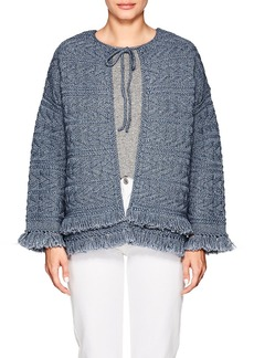 Current/Elliott Women's The Cable Fringe Sweater