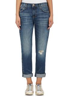 Current/Elliott Women's The Fling Studded Boyfriend Jeans