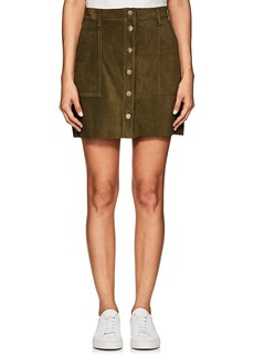 Current/Elliott Women's The Naval Suede Skirt