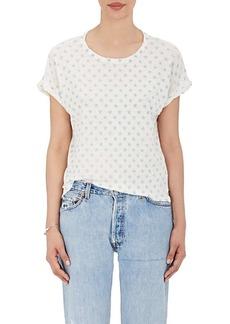 "Current/Elliott Women's ""The Rolled Crew"" Linen-Cotton T-Shirt"