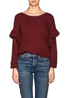 Current/Elliott Women's The Ruffle Cotton Sweatshirt
