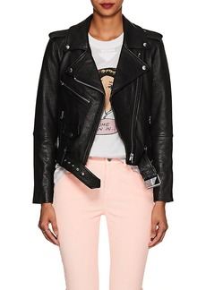 Current/Elliott Women's The Shaina Leather Biker Jacket