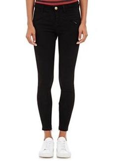 Current/Elliott Women's The Silverlake Zip Suede Skinny Jeans