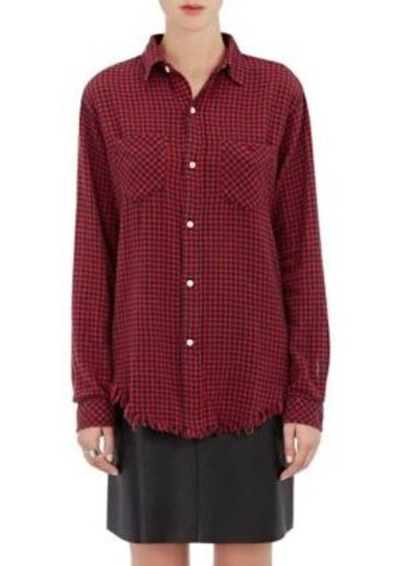 "Current/Elliott Women's ""The Two Pocket Prep School Shir""t-RED Size 1"