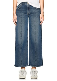 Current/Elliott Women's The Wide Leg Crop Jeans