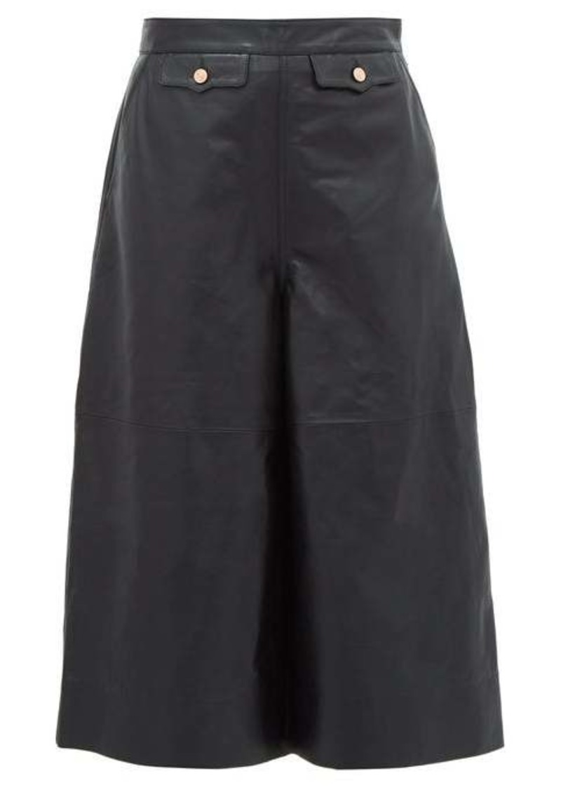 Current/Elliott X Vampires Wife High-rise leather culottes