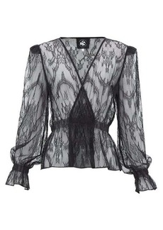 Current/Elliott X Vampires Wife Tullulah lace wrap blouse