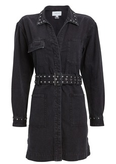 Current/Elliott Debbie Studded Shirt Dress