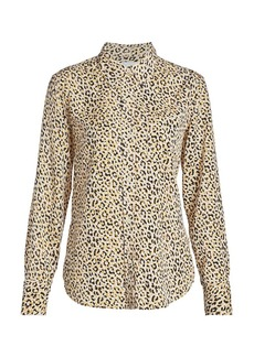 Current/Elliott Derby Leopard-Print Blouse