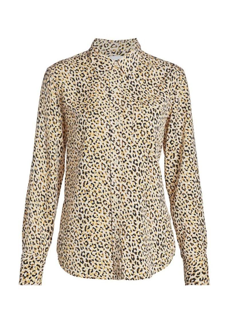 Current/Elliott Derby Leopard-Print Blouse