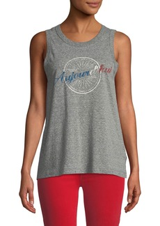 "Current/Elliott Easy ""Aujourd'hui"" Destroy Jersey Muscle Tank"