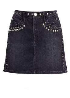 Current/Elliott Grommet & Stud Denim Mini Skirt