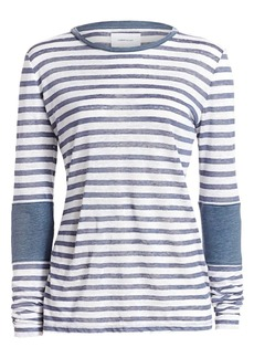 Current/Elliott Hallan Stripe Linen Top