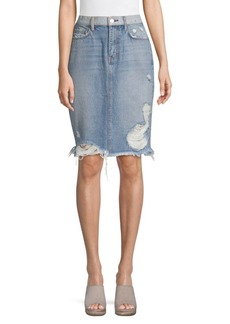 Current/Elliott High-Waist Denim Skirt